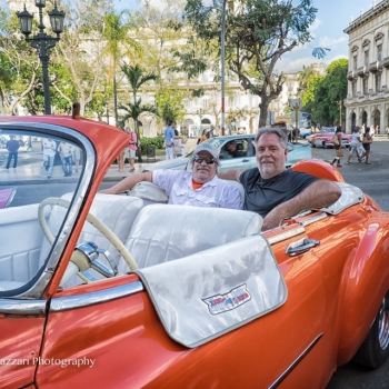 Tony and Jeff Johnson set for a cruise of Old Havana.