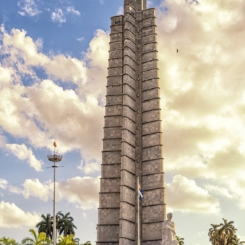 Plaza de la Revolución. The vultures circling the tower are common. Hmm.