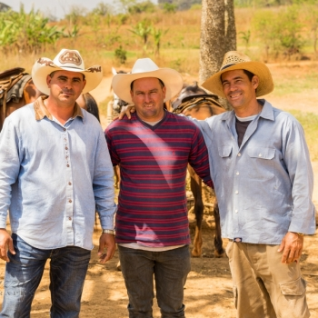 Our guides on our horseback expedition ito the the tobacco farm.