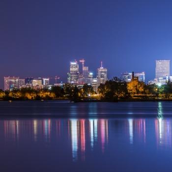 Sloan Lake Skyline Reflected sr-DSC04010
